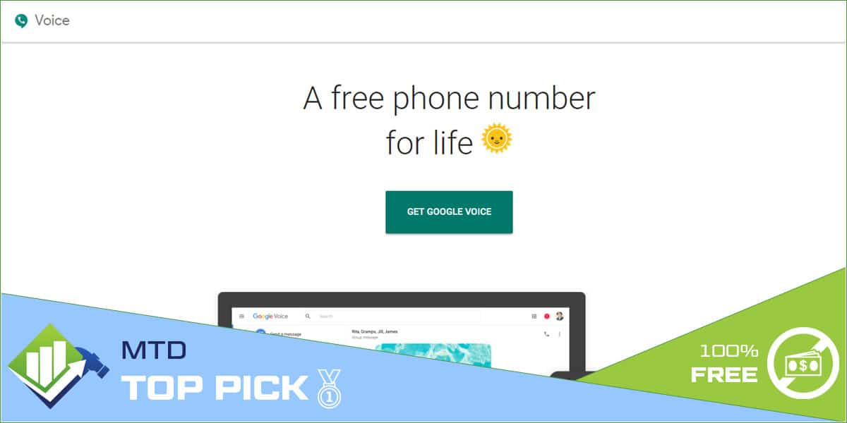 Google voice number free